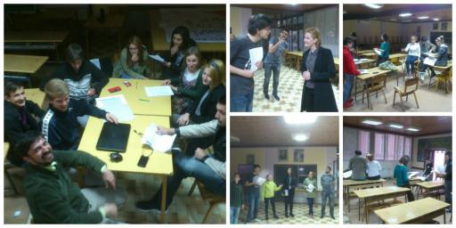 Brojne probe održali su mladi zaječarski glumci sa svojim mentorom profesorom Stevanom Jovanovićem.